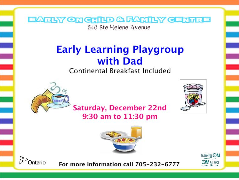 Early Learning Playgroup with DAD
