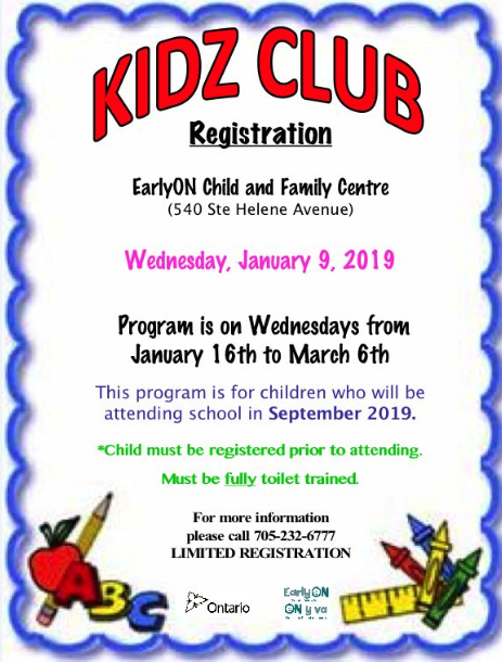 KidzClub Registration