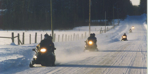 Photo of Snowmobilers