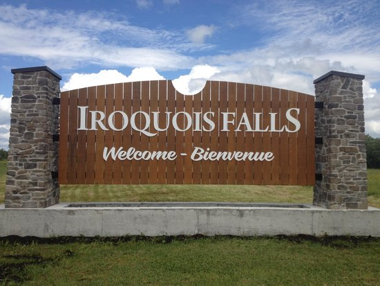 Iroquois Falls Welcome Sign